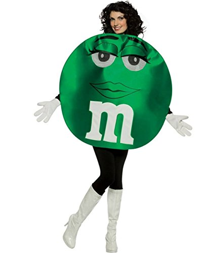 [M and Ms Green Costume - Adult Costume deluxe] (Deluxe Green M & Ms Costumes)