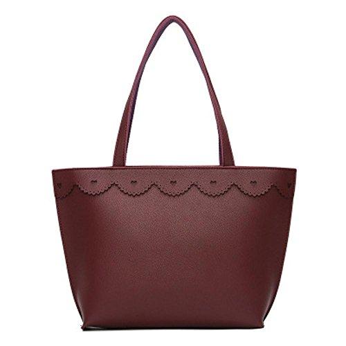 Aoligei Sacs de sacs de mode européens et américains de pure sac bandoulière unique d'unité centrale de couleur B