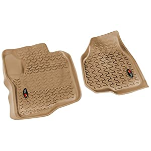 Rugged Ridge All-Terrain 83902.30 Tan Front Row Floor Liner For Select Ford F-250 and F-350 Models