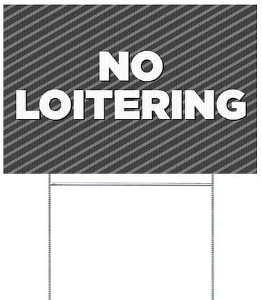 Stripes White Perforated Window Decal 36x24 CGSignLab 5-Pack No Loitering