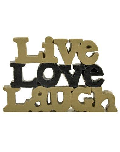 (Blossom Bucket 1311-88309 Live Love Laugh Message Block, 5-1/2 X 3-1/2