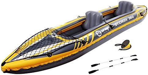 JILONG St. Croix 2-2 Personen Kajak 350x78x52cm Inklusive 2 Aufblasbare Sitze Tragfähigkeit 160kg Kayak Canoa para 2 Personas, Unisex Adulto, ...