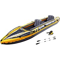 Zray 360 Z-Ray St. Croix 2-Person Inflatable Kayak Set, Yellow, One Size