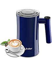 Milk Frother, Electric Milk Frother and Steamer, 350ML Milk foamer Automatic Hot Milk 3 Temperature Control Coffee Frother Milk Heater & 2 Different Stirring Rod for Milk, Coffee, Chocolate