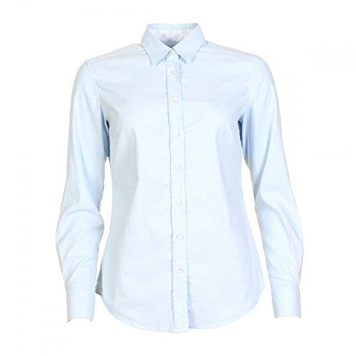 GANT Stretch Oxford Solid Flower Ladies Shirt Light Blue UK18 EU44 US14 ()
