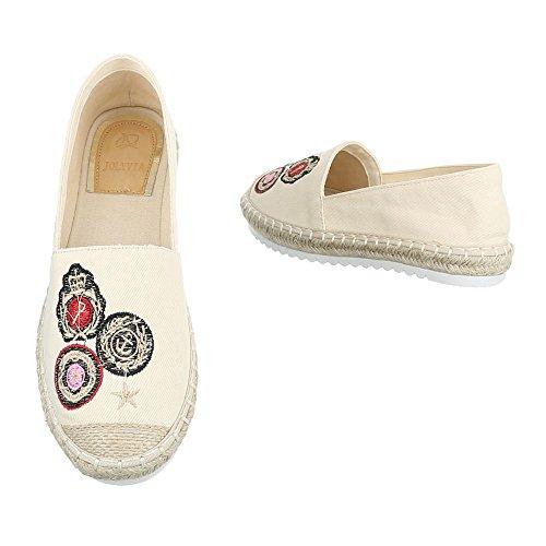 Ital-Design - Sandalias de vestir de Material Sintético para mujer Beige CV-355