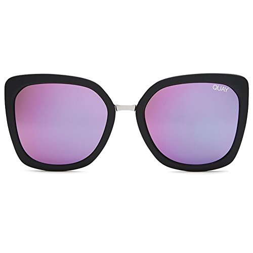 Quay Capricorn Sunglasses | Cat Eye Mirror Lens | UV - Fame Needing Quay Sunglasses