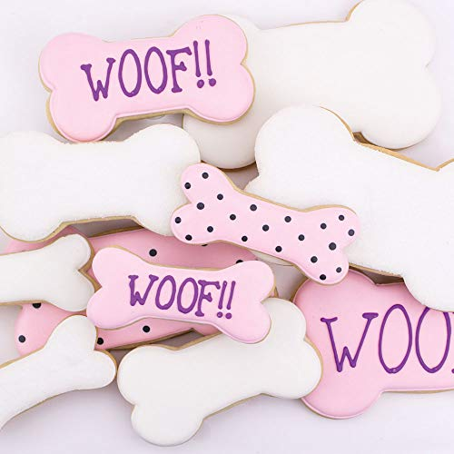 """Ann Clark Cookie Cutters 5-Piece Dog Bone and Biscuit Cookie Cutters for Homemade Treats, 2"""", 3"""", 3.5"""", 4"""", 5"""""""