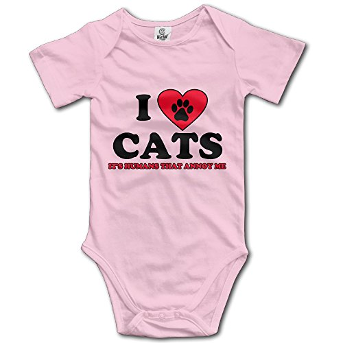 I Love Cats Short Sleeve Baby Onesie Toddler Baby Costume Babe Jumpsuit Best Sale (Black Cat Babe Costume)