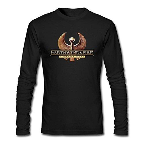 IIOPLO Men's Earth Wind Fire Long Sleeve T-shirt