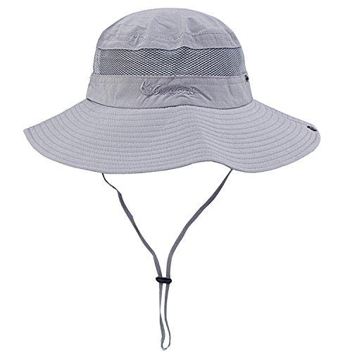 (Unisex Outdoor Sun Cap Camouflage Bucket Mesh Boonie Hat)
