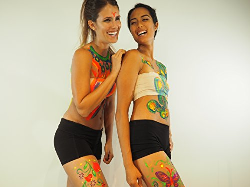Neon Glow in the Dark (Body Art Paint) #1 Premium Set (6...