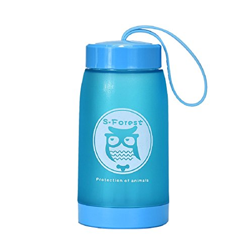 Bestpriceam® 320ml Home Owl Thick Kettle Cups Plastic Water Bottles (Blue)