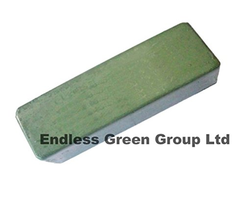 Bolpol Green Buffing Compound Polish Bar / multi purpose abrasive polishing bar ideal for sharpening woodworking, woodturning, woodcarving cutting craft tools on a leather strop 110g Bolpol products are made in the UK