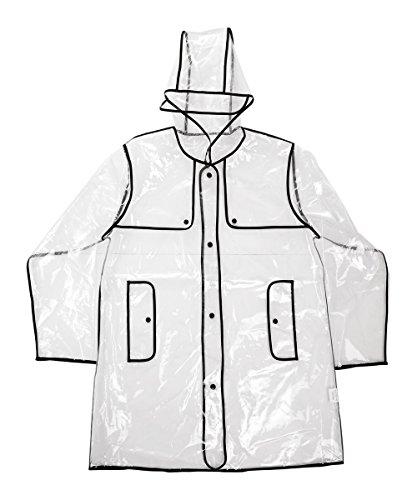 Ace Select Transparent Raincoat Women EVA Fashion Hooded Rai