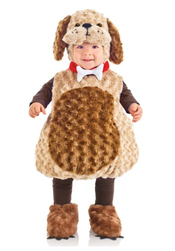 Underwraps Costumes Toddler Puppy Costume - Belly Babies Furry Puppy Costume, Medium (18-24 Months)