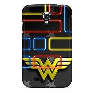 Bumper Cell-phone Hard Covers For Samsung Galaxy S4 With Custom Colorful Wonder Woman Logo Series LauraAdamicska