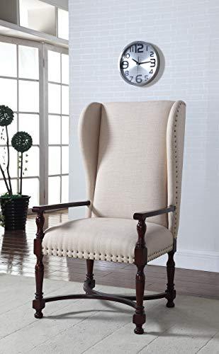 Best Master Furniture 615 Devon Upholstered King Accent Chair, Beige