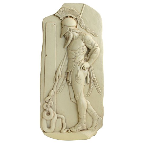 Greek Warrior in Helmet Stele Relief - G-018S