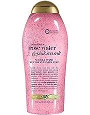 OGX Pink Sea Salt & Rosewater Gentle Soothing Body Scrub, 577 milliliters