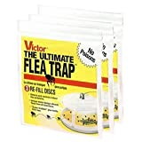 Victor M231 Flea trap refill 3 packs of 3 (9 refills total) Includes the SJ pest guide eBook