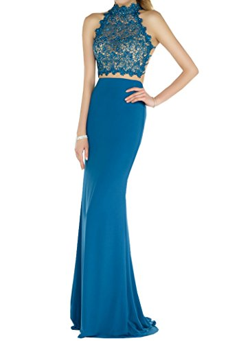 Gown Halter Special Beaded Mermaid Dress Hot Bridal Women Party Lace Maxi Crystal Dress Blue Style8 Evening qqT1Ow