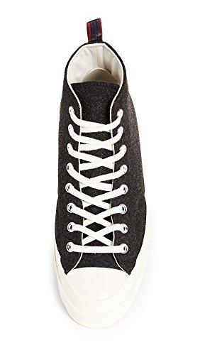 Converse Mens Chuck Taylor 70s Heritage Felt High Top Sneakers Black/Egret W2qAG6w