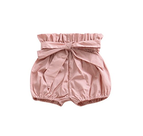 AYIYO Baby Infant Toddler Girls Bowknot Ruffle Bloomers Shorts (80(6-12Months)(for Height:27.6