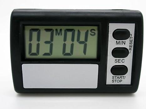 Reloj Temporizador Digital Cuenta Atras de Cocina Soporte Adhesivo LCD Pila 2274: Amazon.es: Hogar