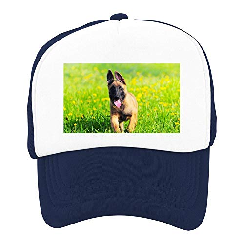 EThomasine Kids Girls Boys Mesh Cap Trucker Hats Belgian Malinois Adjustable Hat Navy by EThomasine