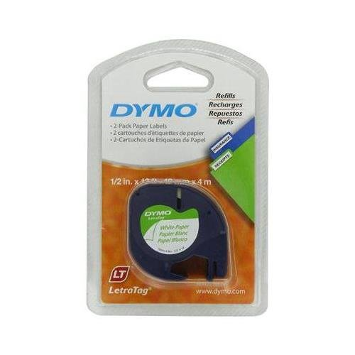 dymo-10697-self-adhesive-paper-tape-for-letratag-label-makers-white-2-pack-of-2-piece-each