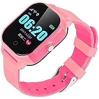 BINDEN Smartwatch Rastreador GPS FA23 Resistente el Agua IP67, Ideal para Niña o Niño, Seguimiento Minuto a Minuto con Geocerca y SOS, App Disponible para iOS y Android (Rosa)