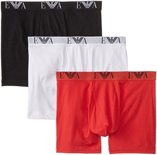Emporio Armani Men's 3-Pack Cotton Boxer Briefs, Black/White/Red, - 2014 Emporio Armani