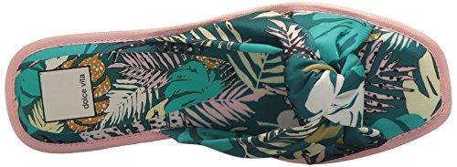 Dolce Vita Damess Halle Slide Sandaal Groene Palm Print