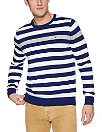 Tommy Hilfiger Mens Westbrook Stripe Crew Neck Sweater Sweaters