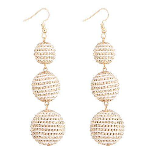 VK Accessories Thread Ball Dangle Earrings Thread Dangle Earrings Soriee Drop Earrings (bead -