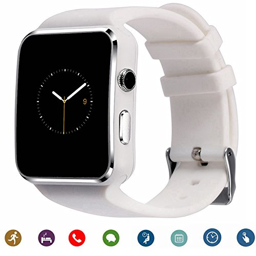 TagoBee TB01 Bluetooth Smart Watch with Sim Card Camera 2018 Upgrade HD Screentouch suport Facebook Whatsapp Functions Compatiable with All Android Smartphones and iPhone (Partial Function) White by TagoBee