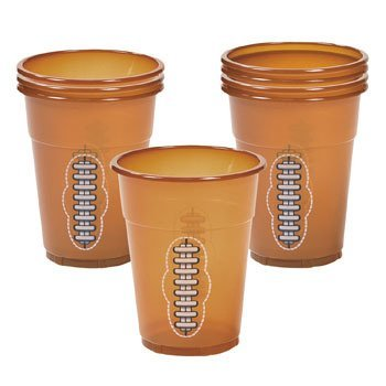 Football Disposable Cups - Sports & Game Day by Oriental Trading Company, Pack of 50, 16 ounce Cup by Fun Express