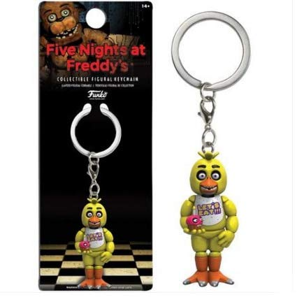 Five Nights At Freddy's World Halloween Edition (Five Nights at DYS Keychain Action Figures Toys Anime PVC 5Cm Dy Keychain Ring Halloween Toys for Children Cool Must Haves 4 Year Old Girl Gifts The Favourite Toys 4T)