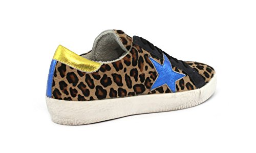 Lam MELINE Cappuccino Giallo Bluette VIT Sneaker VIT Lam Lince KU 1011 zfqzI