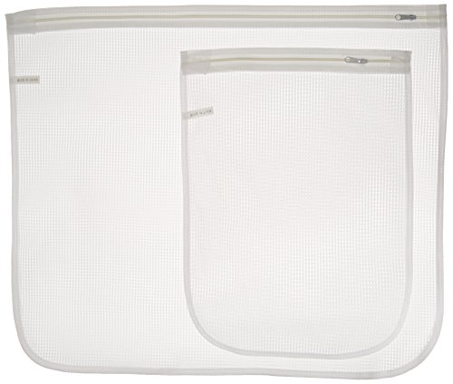 Whitmor 6154-140 Mesh Wash Bags, Set of 2, 1-large 21-inches x 18-inches and 1-small 11-inches x 15-inches
