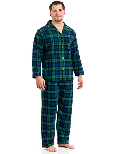 Botany 500 Long Sleeve, Long Leg Yarn Dyed Flannel PJ Set-Big And Tall Sizes, Assorted Plaid, Large-Tall