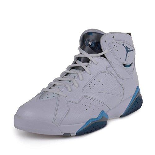 Nike Mens Air Jordan 7 Retro French Blue White/French Blue-Flint Grey Leather Size 13 Basketball Shoes (Jordan French Blue 7)