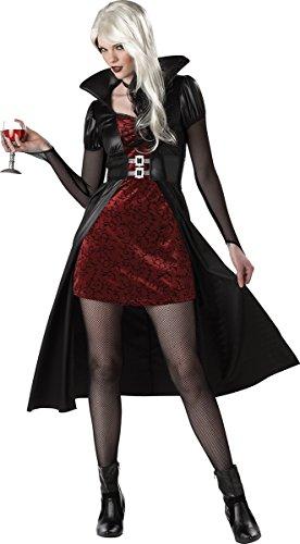 California Costumes Women's Blood Thirsty Beauty Costume, Black/Burgundy, Medium ()