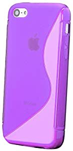 iCues S-Line - Carcasa de TPU para iPhone 5C, color morado