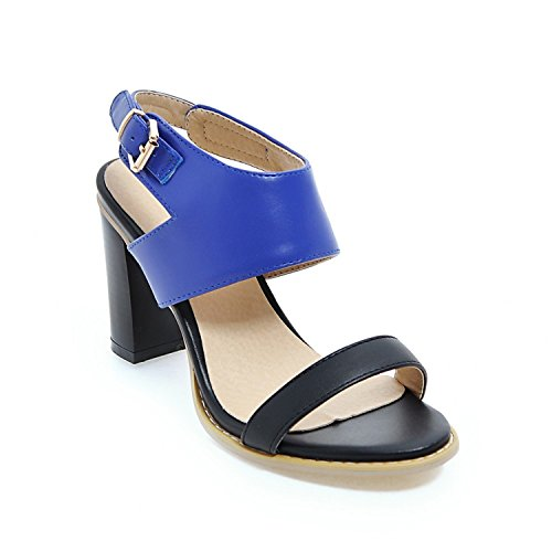 VFDFGNn Fashion high heels sandals square heel casual women shoes shoes large size 34-43 Blue - Nyc 5th Shopping Ave