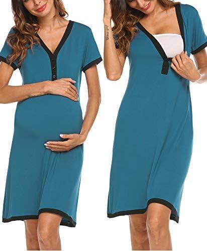 Ekouaer Maternity Nightgown Breastfeeding Sleepwear product image
