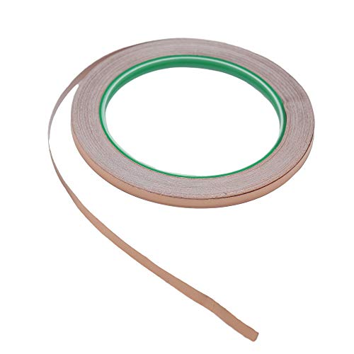 Copper Foil Tape-Adhesive Copper Tape-5mmx20m Double Conductive Copper Foil Tape Strip Adhesive EMI Shielding,Shielding,Soldering,Electrical Repairs ()