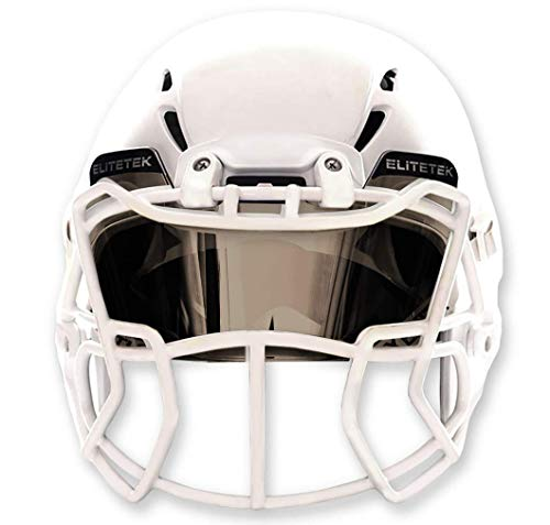 EliteTek Chrome Football Eye-Shield Visor - Universal Helmet Fit Youth and Adult Helmets (Mirror)