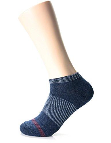 - FLATSEVEN Mens Fashion Chalk Stripe Casual Dress Socks (XMM1001W) Navy, 1EA